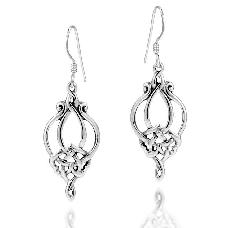 14x10mm Genuine Picture Jasper Drop 925 Sterling Silver Dangle Earrings Pair wyHKDq3J8F