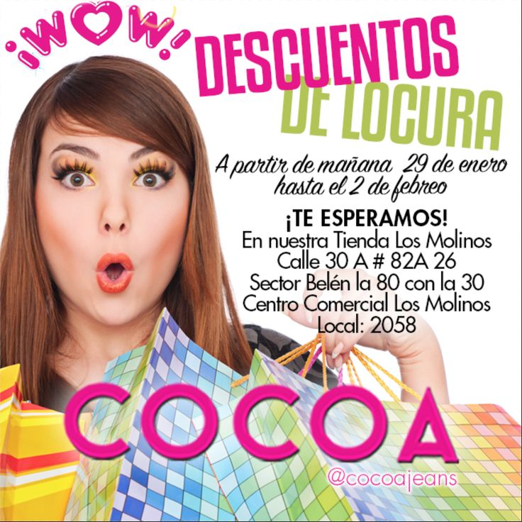 Te esperamos en nuestra tienda #cocoalosmolinos con nuestros #DescuentosdeLocura  #fashion #trendy #chic #woman #happy #promo #cocoa