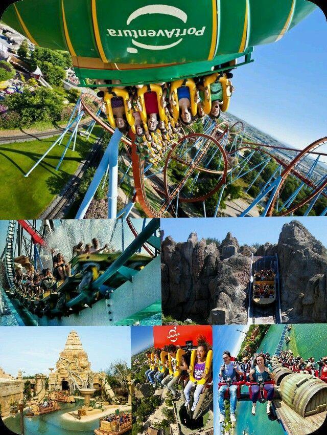 Port Aventura Mix.   Atracciones: Dragón Khan, Shambala, Tutuki Splash,  Angkor, Hurácan Cóndor y Furius Baco.