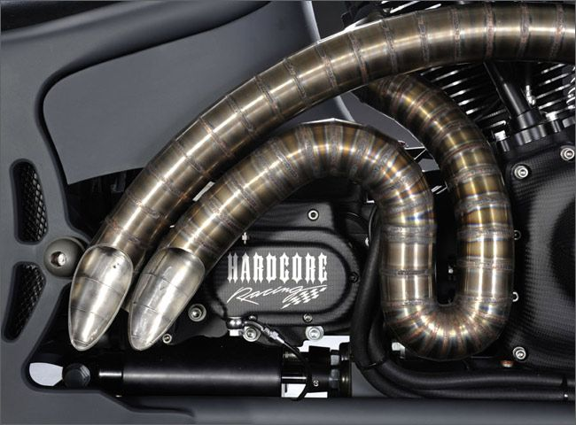 how to make custom motorcycle exhaust pipes