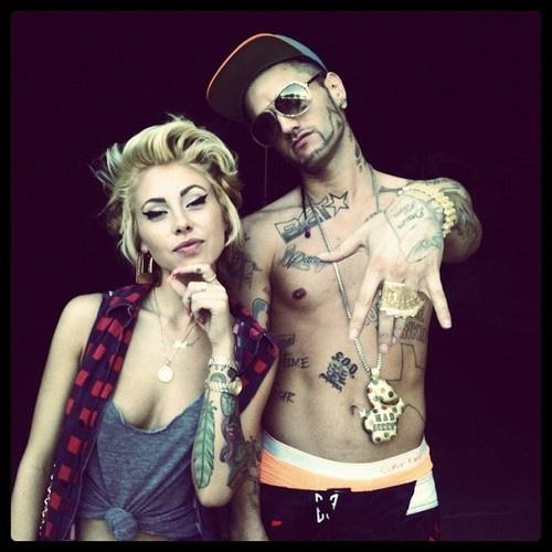 lil debbie & Riff Raff :] - lol boyfriend wants to be these two for halloween