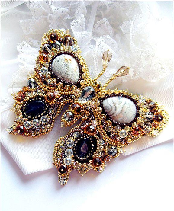 Beautiful beaded jewelry with butterflies (part II)   Beads Magic