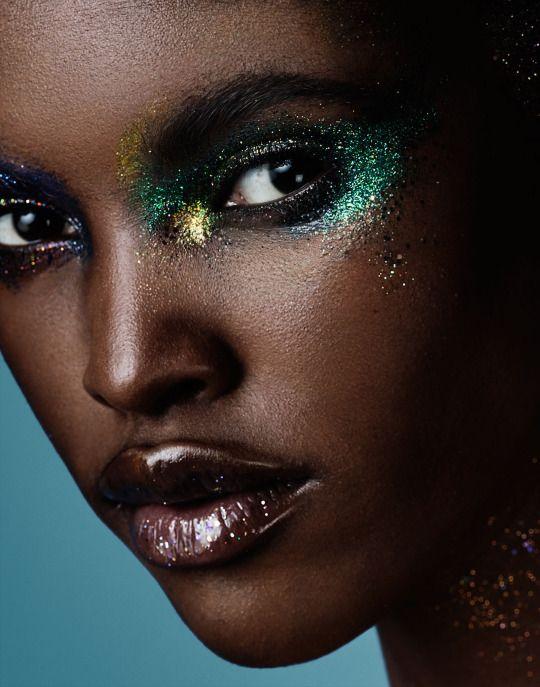"""Glitter Bomb"" Amilna Estevao by Jason Kim for Models.com July 2016.  Fashion Editor: Sarah Cobb Makeup: Morgane Martini Hair: Cecilia Romero"