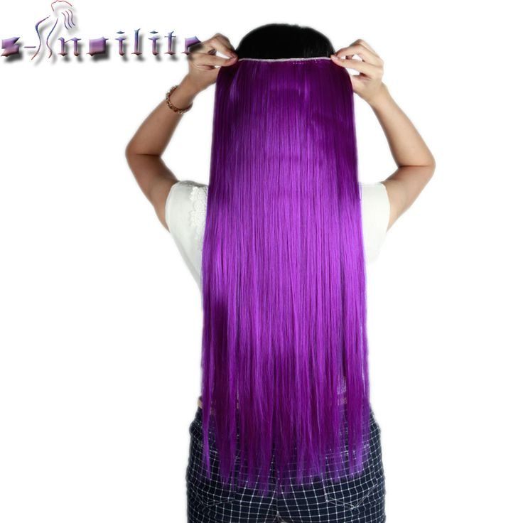 The 25 best purple extensions ideas on pinterest black purple s noilite long dark purple straight 68cm clip in full head hair extensions extension synthetic pmusecretfo Images