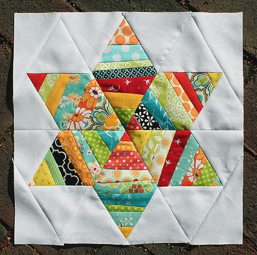string star blockStars Quilt, Six Point String, Quilt Stars, Quilt Block, Diy Gift, String Quilt, Stars Block, String Stars, Quilt Pattern