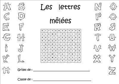 La maternelle de Laurène: Les lettres mêlées