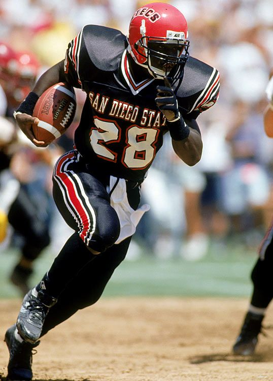 Marshall Faulk  San Diego State.   Good evening & pre- Happy New Year.   Now everybody in Southern Cal knows that if you start with SDSU, next step : San Diego Chargers.  Okay, guys, let's step on the field & take care of business.