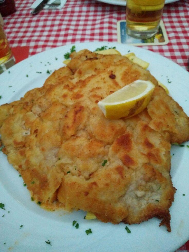 """Schnitzel in Munich """"eat your veggie!"""""""