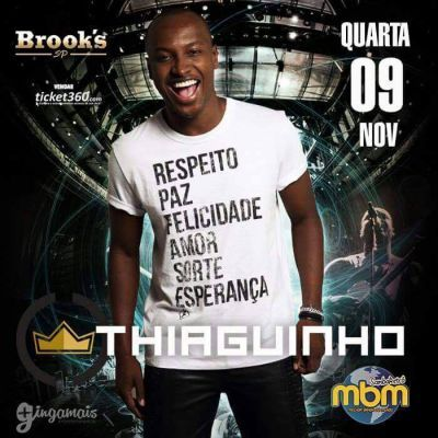 Brook's SP | Show do Thiaguinho Coloque seu nome na lista no Site: http://www.baladassp.com.br/balada-sp-evento/Brooks-SP/567 Whats: 11 95167-4133