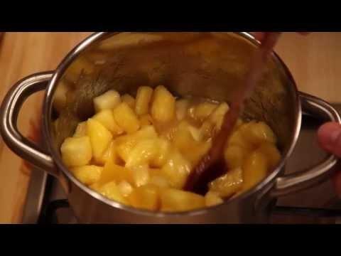 Rumos ananász chutney készítése Koronás Befőzőcukorral