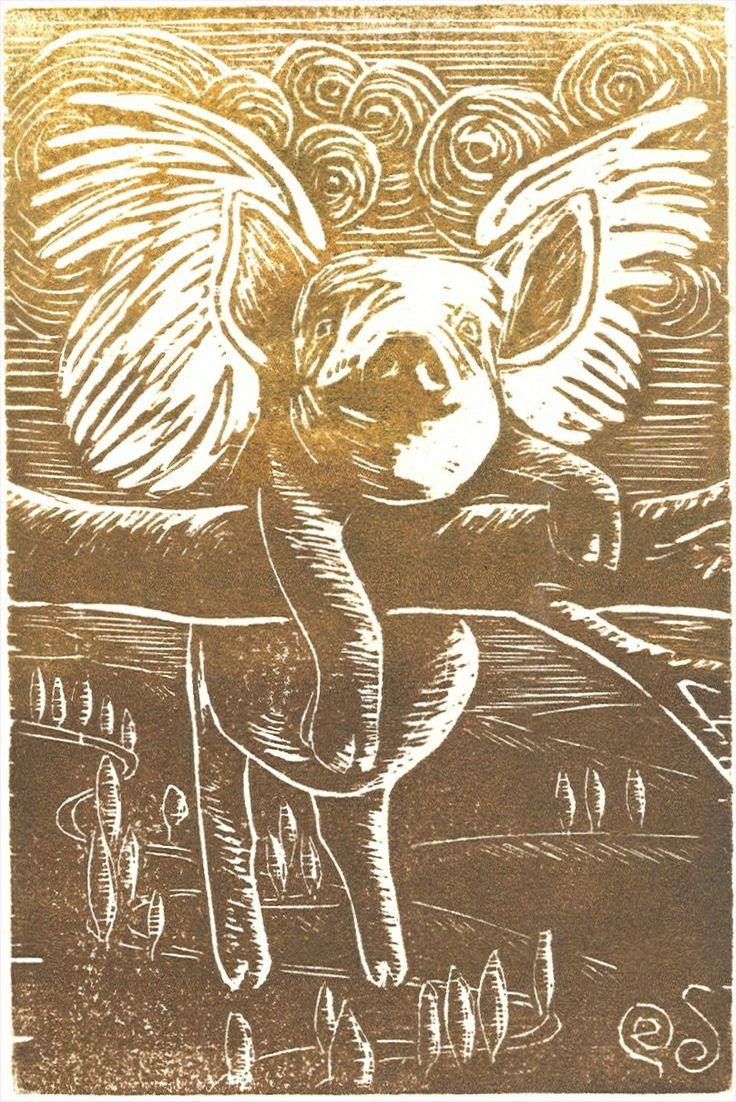 Pigasus ~ woodcut