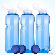 3 x 1 l tritan botella + Sport tapa-botella de agua deporte yoga agua