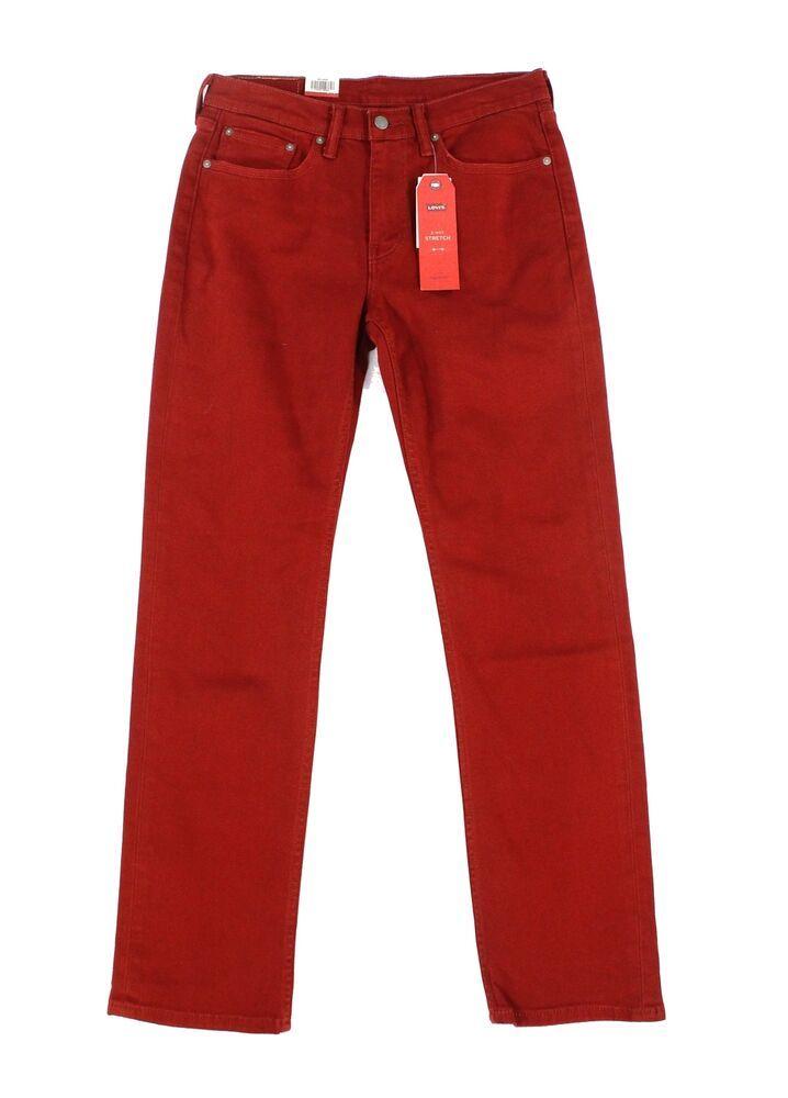 824e1124 (Sponsored)eBay - Levi's NEW Pomegranite Red Mens 33X34 514 Straight Leg  Stretch Jeans