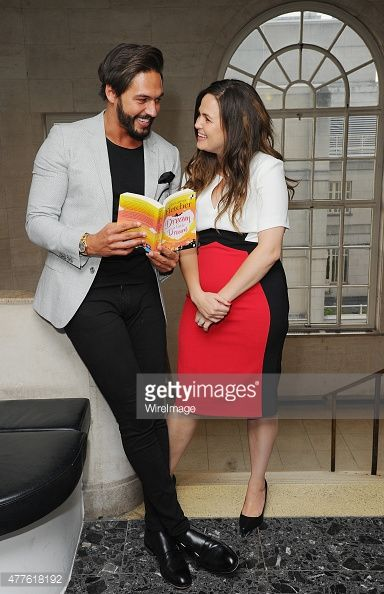 Giovanna Fletcher and Mario Falcone attend the launch of Giovanna Fletcher's 'Dream A Little Dream' at on June 18, 2015 in London, England.