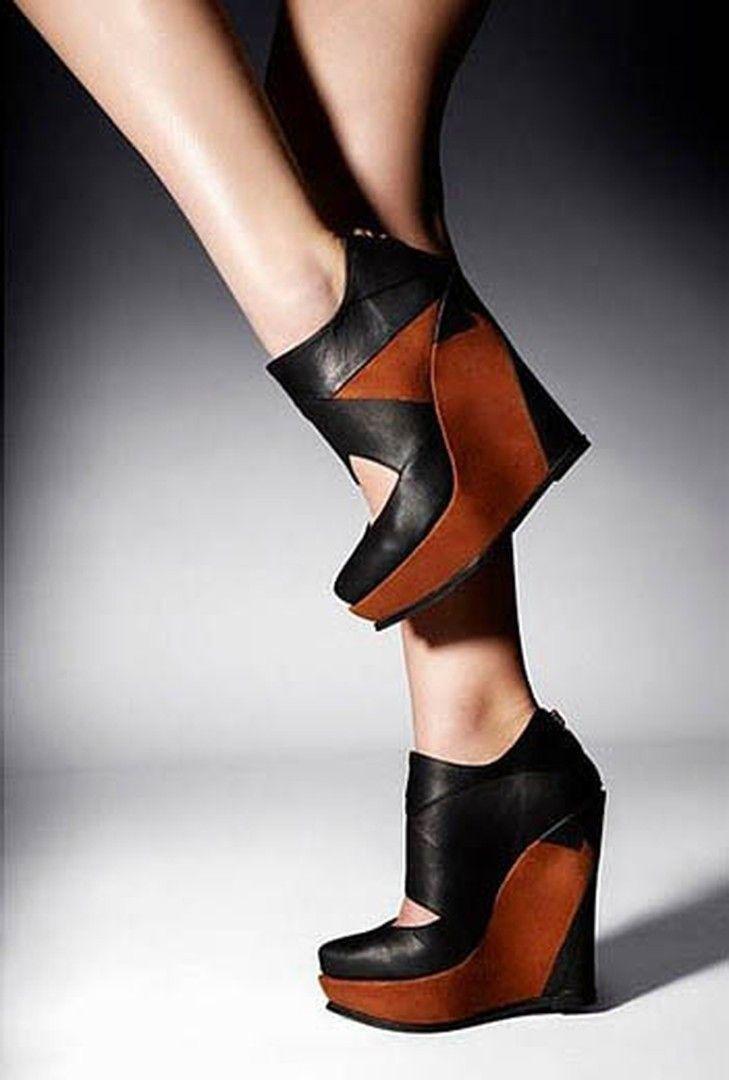 Shoespie Stylish Patchwork Wedge Heels