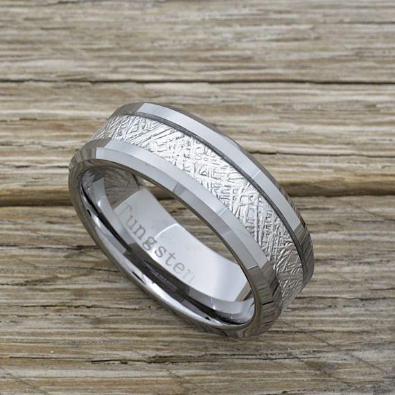 Venda de boda de meteorito de tungsteno de los hombres 8mm