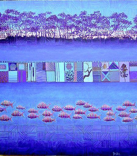 Leon Pericles - Acrylic on canvas - Coastal Ribbon - 1010 x 900mm