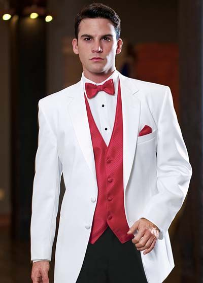 Red and White Wedding Tuxedos | Wedding Tuxedos: Stephen Geoffery - Alexanders Since 1954 l Tuxedo ...