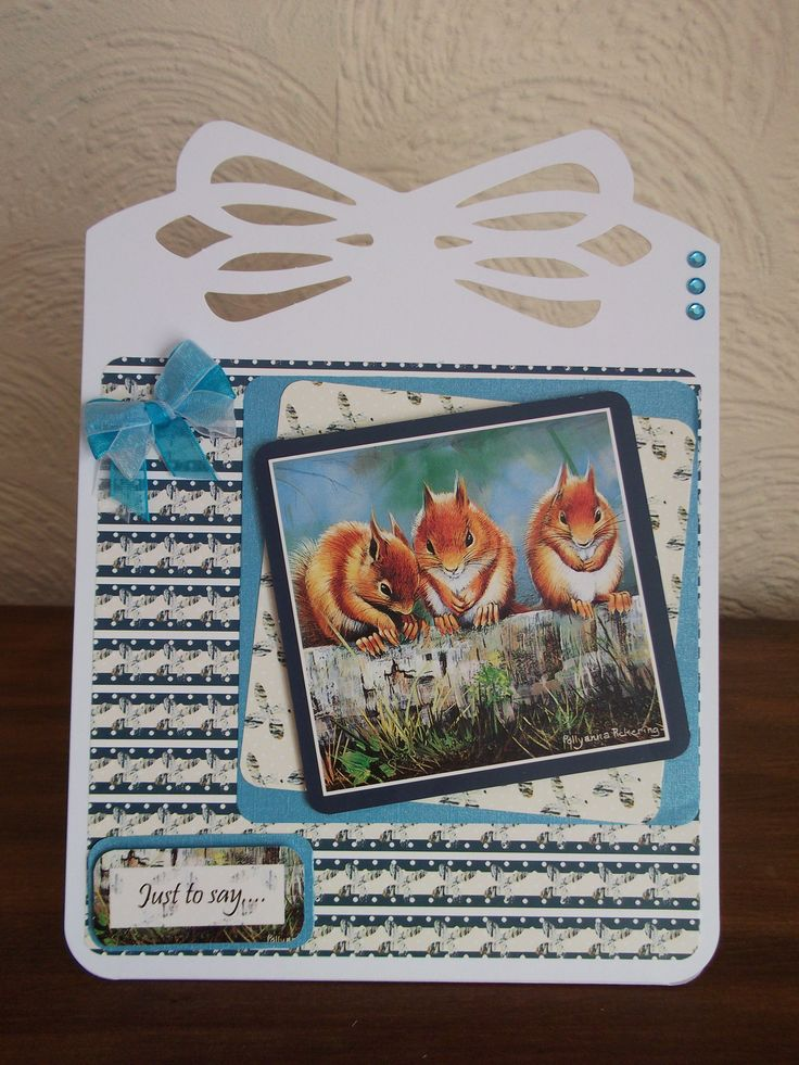 Card made using Pollyanna Pickering British wildlife kit.