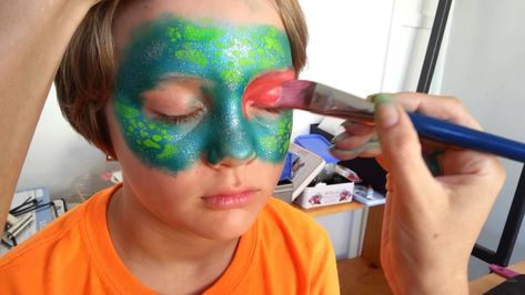 Quick Easy Dragon Face Painting by Sparkly Fairy Face Painting Symone - YouTube