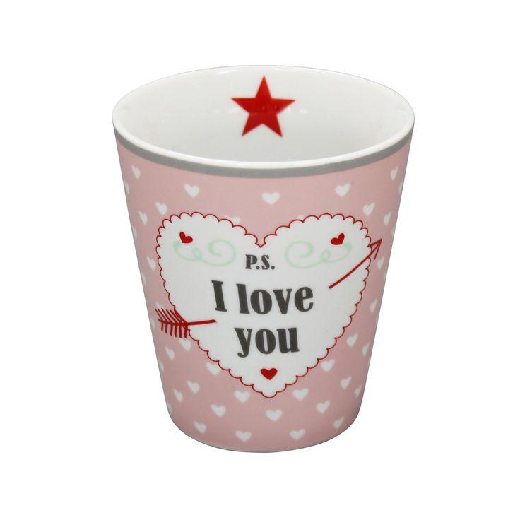 Happy Mug von Krasilnikoff mit ganz viel Herz. (-:❤️
