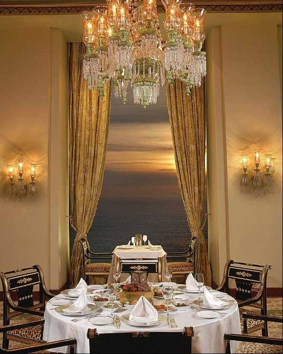 Old World Dining Room Chandeliers: Invitinghome: Beautiful Dining Room With A View