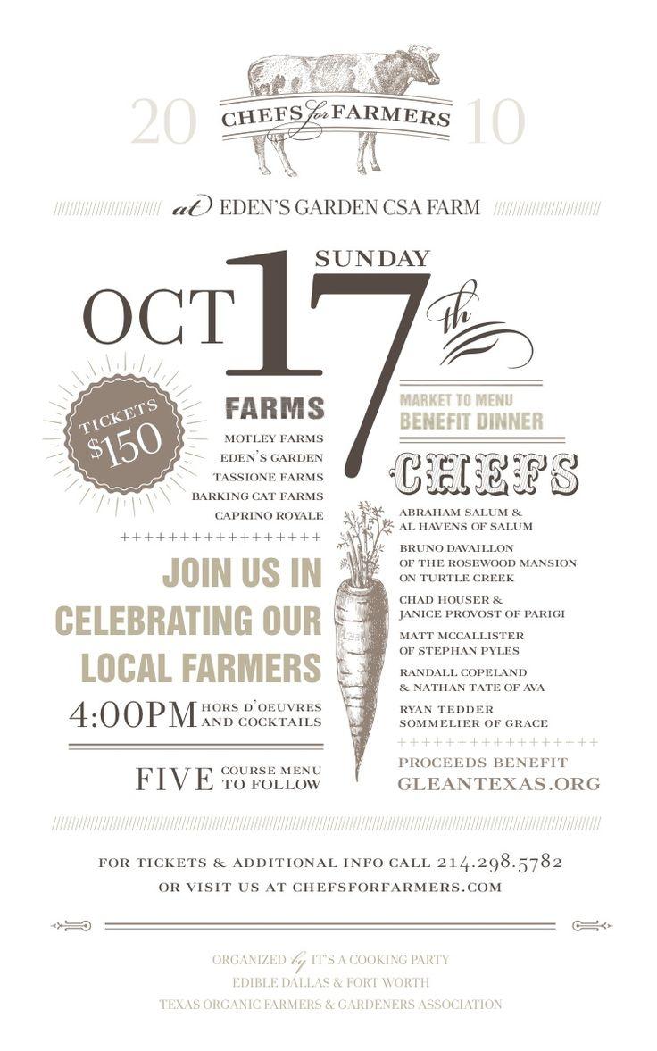 Unique Farm To Table Invite