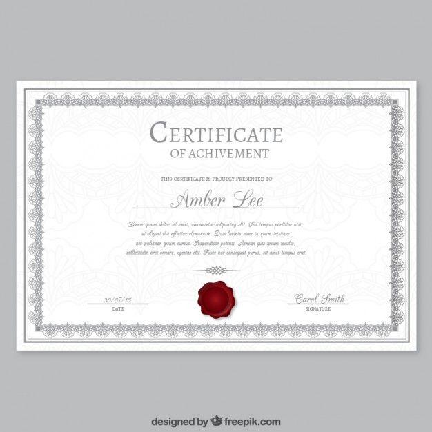 20 Best Certificados Images On Pinterest Certificate Design Free