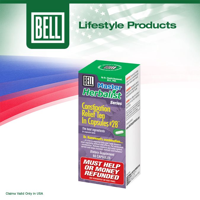 Bell Constipation Relief Tea In Capsules includes all natural ingredients and helps support your entire digestive system to keep your bowels healthy. Learn more about Bell Constipation Relief Tea in Capsules on our website today. http://bit.ly/1juI1b2