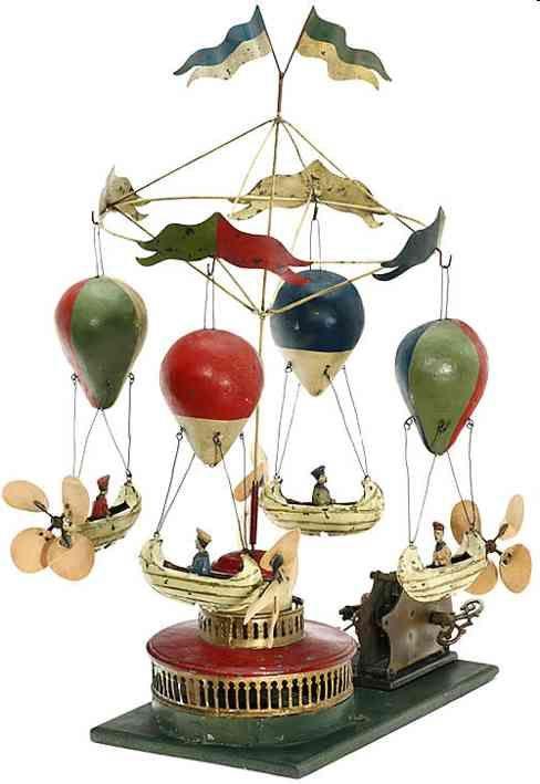 Müller & Kadeder Tin-Carousels Airship carousel hand-painted