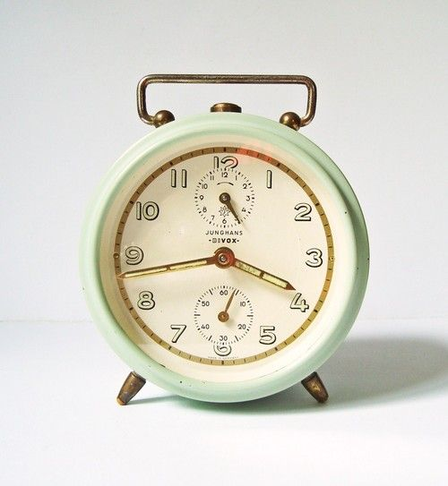 Vintage alarm clock by Junghans Bivox, Germany.