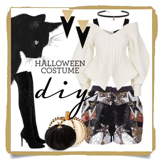 """""""Вамп"""" by ingridient ❤ liked on Polyvore featuring Elie Saab, Kendall + Kylie, Burberry, Carbon & Hyde, Allstate Floral, Yves Saint Laurent, halloweencostume and DIYHalloween"""