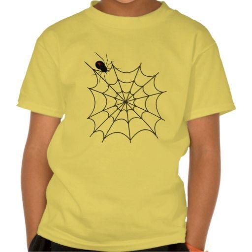Preteen kids spider cartoon t-shirt