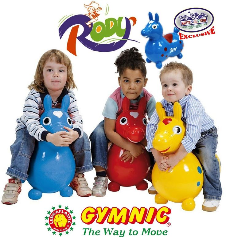 "AmazonSmile: Gymnic Rody Horse Inflatable Bounce & Ride, ""Matty's Toy Stop"" Exclusive Purple & Pink Swirl (70254): Toys & Games"