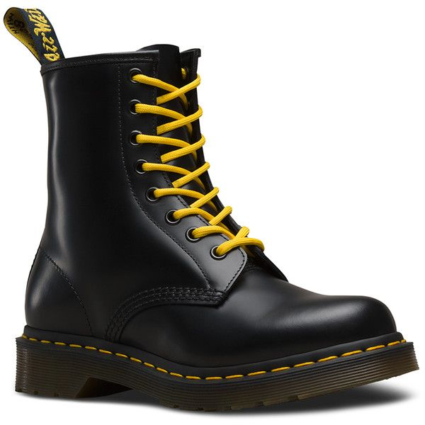 WOMEN'S 1460 SMOOTH (€115) ❤ liked on Polyvore featuring shoes, boots, narrow shoes, leather boots, genuine leather shoes, dr martens boots and dr. martens