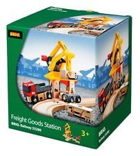 Freight Goods Station -- Brio Wooden Trains #33280 -- 3 Years+ -- FREE SHIPPING!