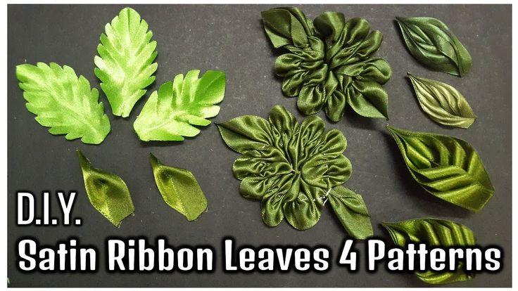 D.I.Y. Satin Ribbon Leaves   4 Patterns   MyInDulzens