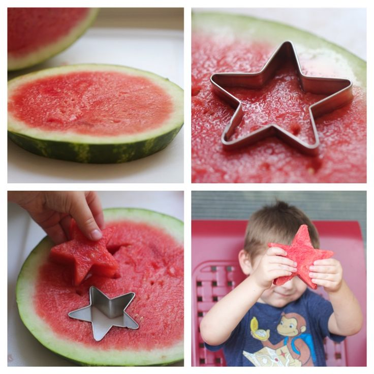 Watermelon stars step by step ...so perfect for a 4th of July BBQ!