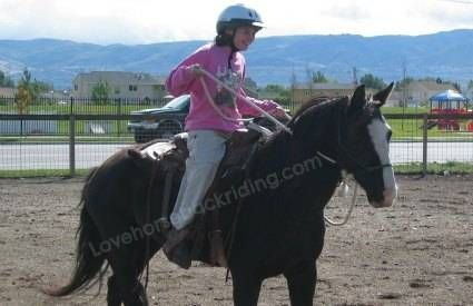 how to stay on a horse while cantering