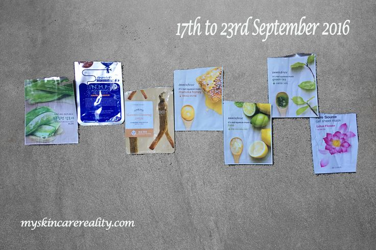 New post alert! Here is the weekly recap of daily sheet masks I used in Sept 2016.   #sheetmasks #dailyuse #skinperfecting #fantastic #beautiful #happy #skincareroutine #skincareregimen #skincareobsessed #beautyproduct #loveit #skincarejunkie #beautycommunity #skincare #beauty  #review #bblogger #beautyproducts #beautyblogger #acnecare #skinhealth #skin #health #itsallaboutyou #bbloggersau #acne #acnescars #holygrail #acnetreatment #antiaging