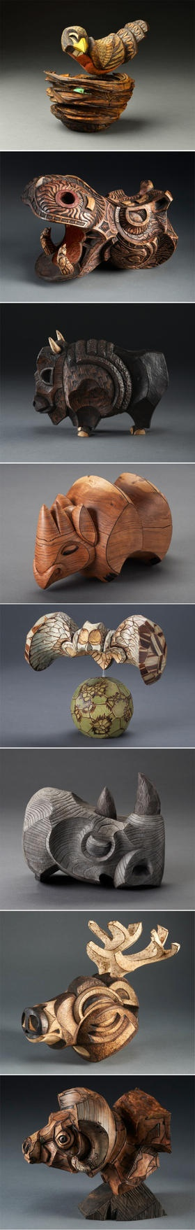 (trying to find the artist for these animal carvings...)