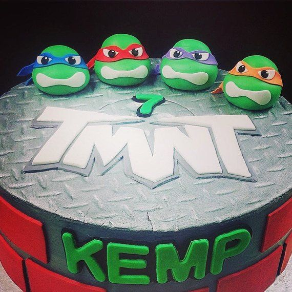 Turtle Ninja Cake Toppers Ninja Turtle Cake Topper Ninja Cake Happy Birthday Lettering
