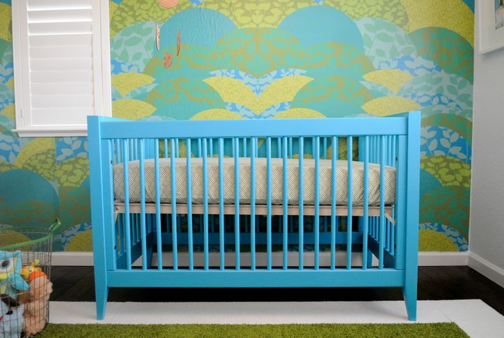 Newport Cottages Devon Crib in Bahama BlueNurseries Inspiration, Bahamas Blue, Cottages Devon, Blue Cot, Projects Nurseries, Devon Cribs, Blue Nurseries, Baby Nurseries, Newport Cottages