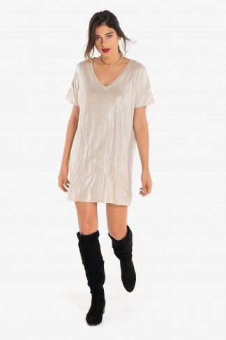 Shiny t-shirt dress - Selfless Shop