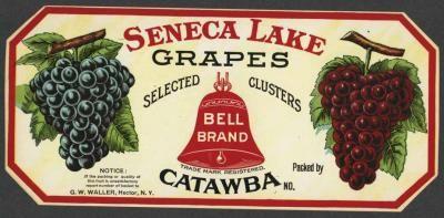 BELL Vintage Seneca Lake Grape Crate Label