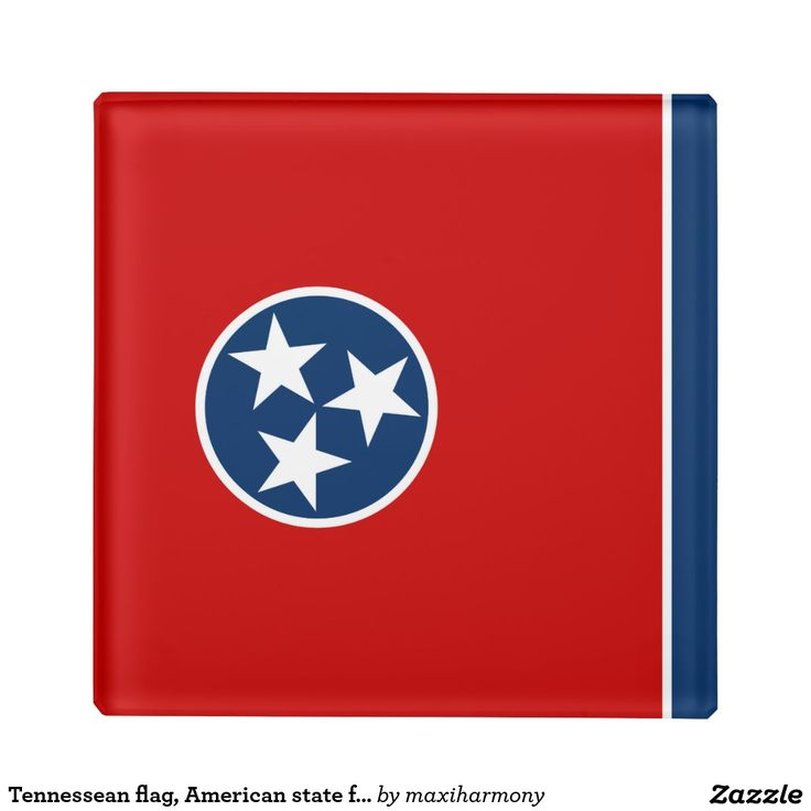 Tennessean flag, American state flag Glass Coaster