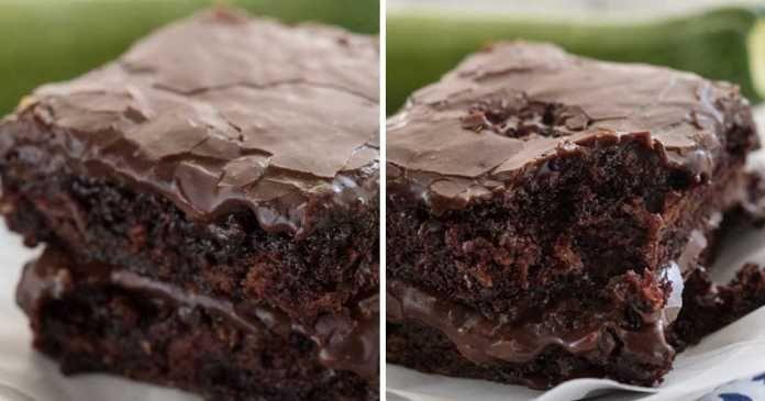 recept na Extra vlhké cuketové brownies