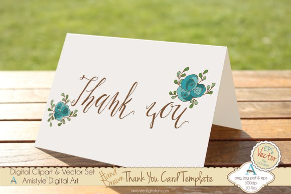 Check out Thank You-Peach Rose-Card Template by Amistyle Digital Art on Creative Market