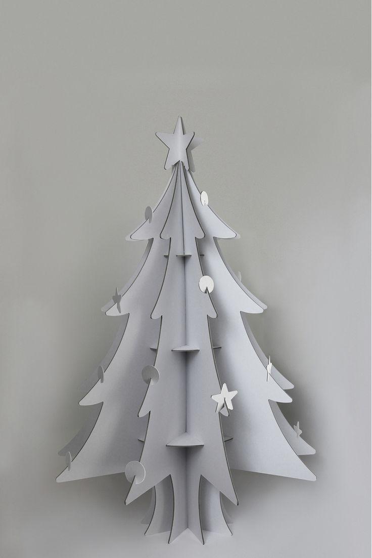 Recycled Cardboard Christmas Trees