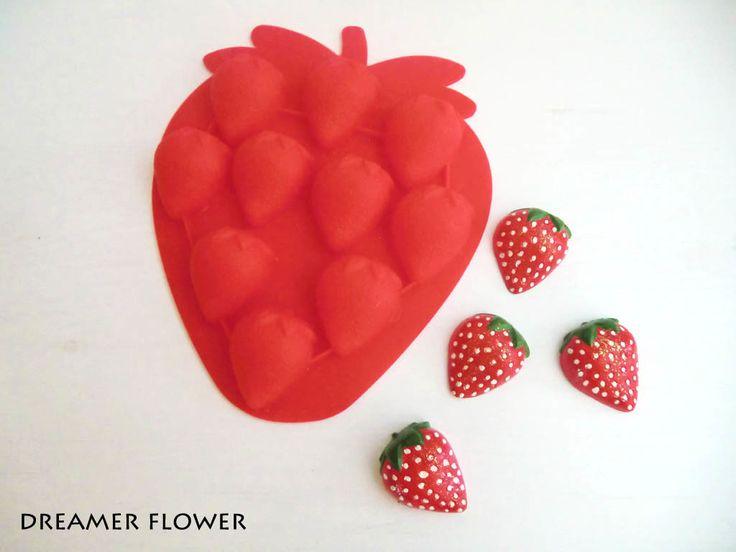 Fragole calamite in gesso profumato  Strawberries scented plaster